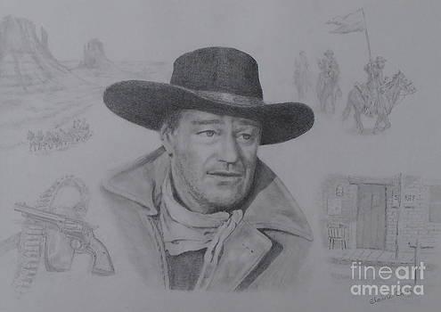 John Wayne by Elaine Jones
