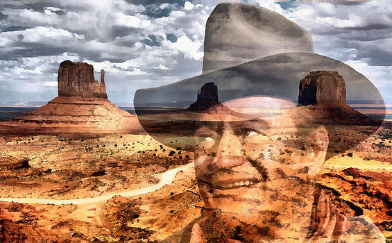 John Wayne Monument Valley by Lester Phipps