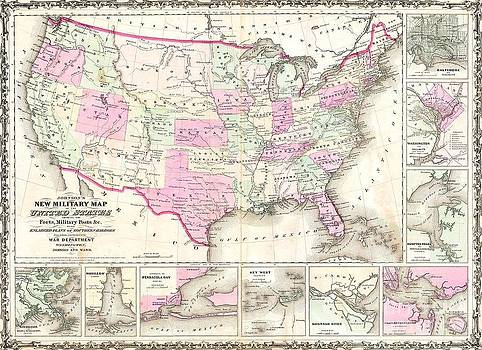 Reproduction - Johnson Military Map - 1862