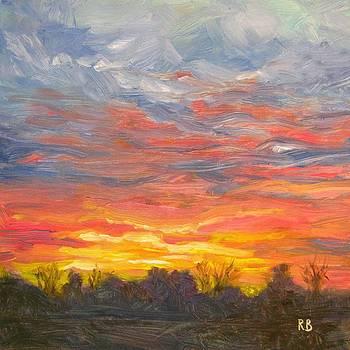 Joyful Sunset by Robie Benve