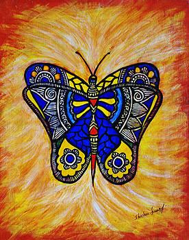 Joyous Butterfly by Shishu Suman