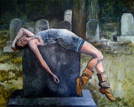 Julia on the Grave by Jessica Lynn Stuart