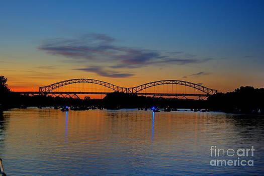 July Sunset At The Arrigoni Bridge by Marcel  J Goetz  Sr