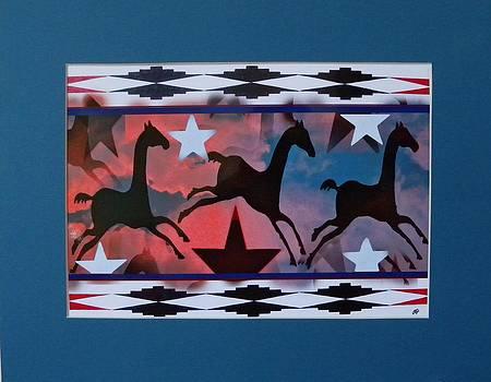 Jumping Horses and Stars by Paul Ferrara