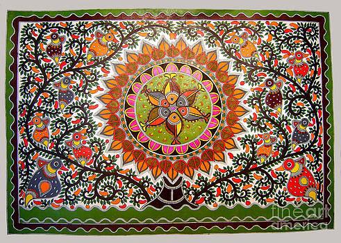 Jungle life-Madhubani Paintings by Neeraj kumar Jha