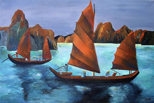 Tracey Harrington-Simpson - Junks In the Descending Dragon Bay