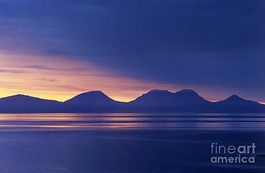 Jura sunset by Derek Croucher