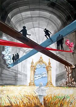 Just paths  by Lazaro Hurtado