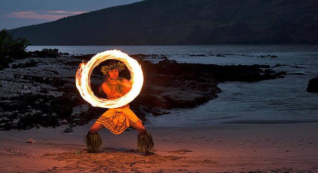 Kainoa Fire Knife dancer by Kirk Shorte