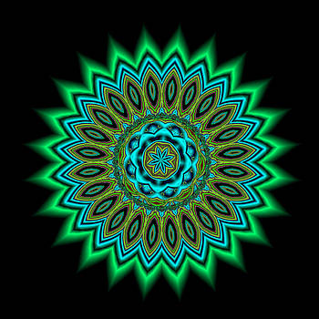 Kaleidoscope 1 Blues and Greens by Faye Giblin