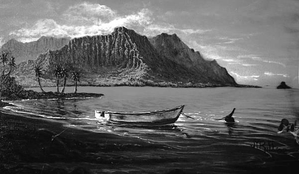 Kaneohe Bay Early Morn - study by Joseph   Ruff