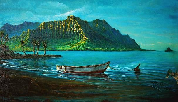 Kaneohe Bay Early Morn 1 by Joseph   Ruff