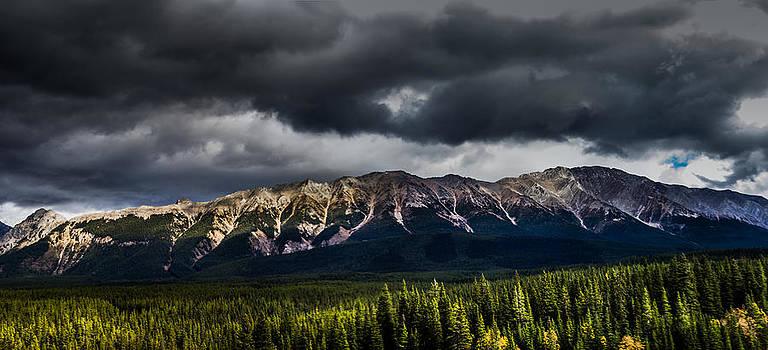 Mt Pocaterra Panorama  by Maik Tondeur