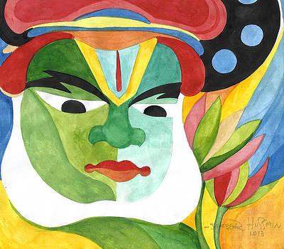 Kathakali Artist 6 by Jakeer Hussain