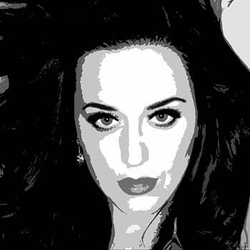 Katy Perry BW Warholesque by Anibal Diaz