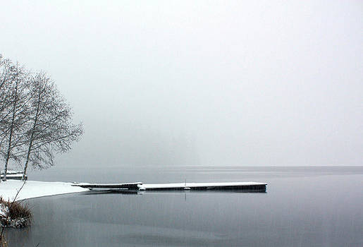 Kawkawa Lake in Winter by Gerry Bates