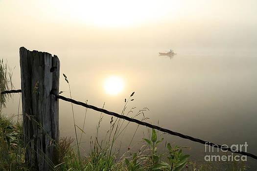 Kayak Anglers Sunrise by Brenda Schwartz