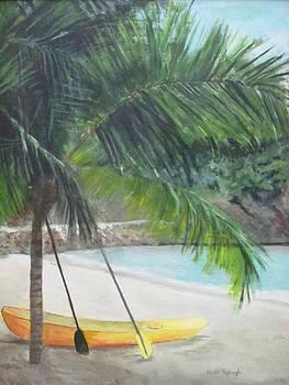 Kayak in Labadee by Paula Pagliughi
