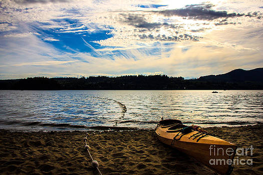 Kayakers dream by Nancy Harrison