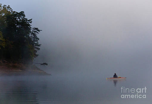 Kayaking Norris Lake by Douglas Stucky