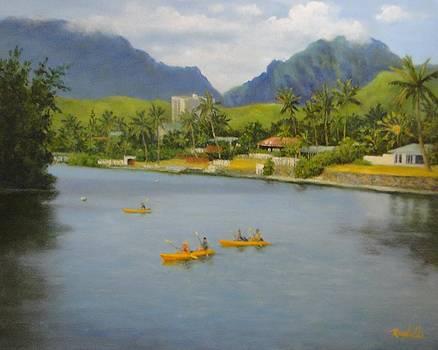 Kayaks In Paradise by Carol Reynolds