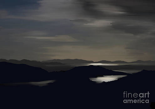 Kenmare Bay by night by Francis Leavey