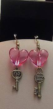 Key To My Heart Earrings by Kimberly Johnson