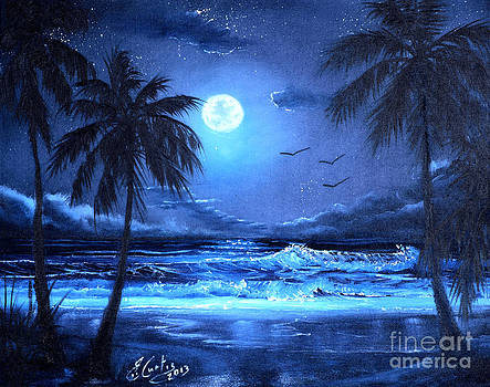 Key West by Moonlight by Earl Butch Curtis