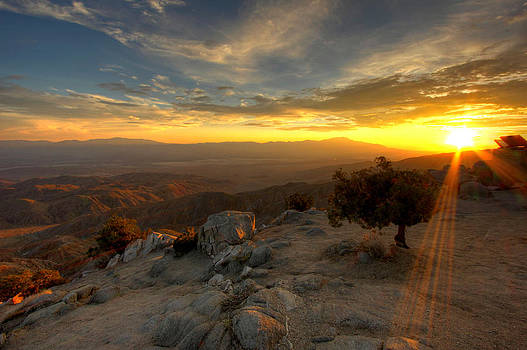 Keys View Sunset - Joshua Tree National Park by Jackie Novak