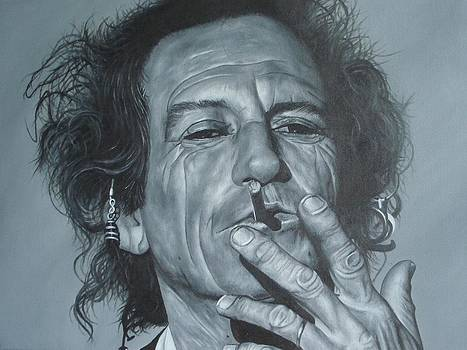 Keith Richards by David Dunne