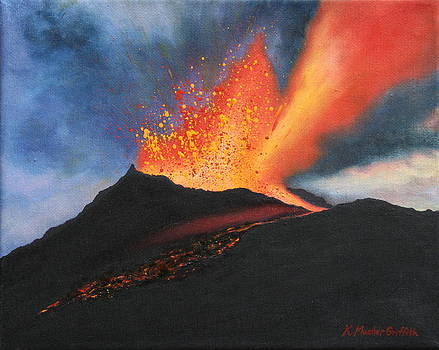 Kilauea Volcano by Kristine Mueller Griffith
