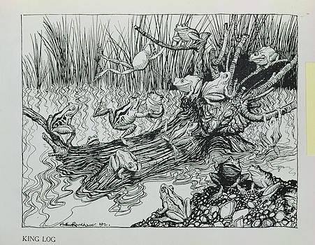 Arthur Rackham - King Log, Illustration From Aesops Fables, Published By Heinemann, 1912 Engraving