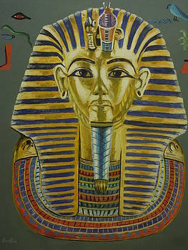 King Tut's Mask by James Guentner
