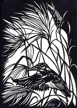 Alfred Ng - kingfisher paper cut