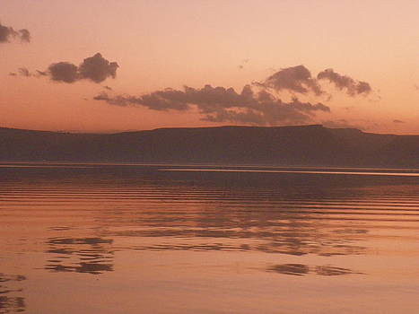 Kinneret Ripples at Dusk by Noreen HaCohen
