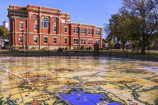 Jason Politte - Kiowa County Courthouse with Mural - Hobart - Oklahoma