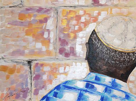 Kippa at the Wall by Faytene Grasseschi