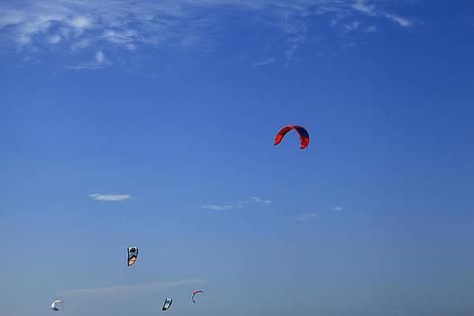 Noel Elliot - Kite Board Canopies And Blue Sky