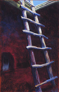 Kiva Ladder in Bandelier NM by Holly Wright