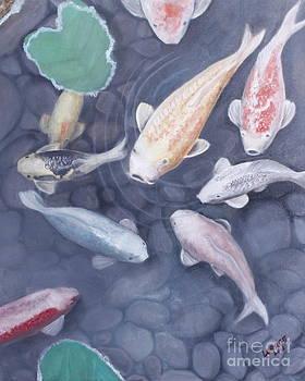 Koi fish by Lorrett A