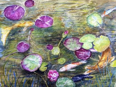 Koi Pond by Carol Warner