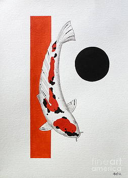 Koi Tancho Square Peg round Hole by Gordon Lavender