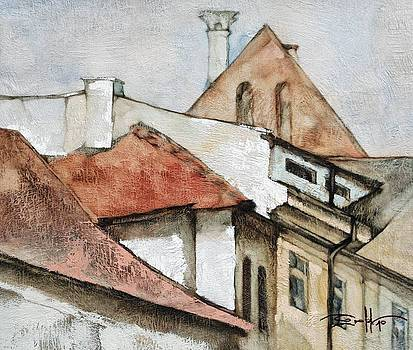 Krakow's roofs# 2 by Michael Solovyev