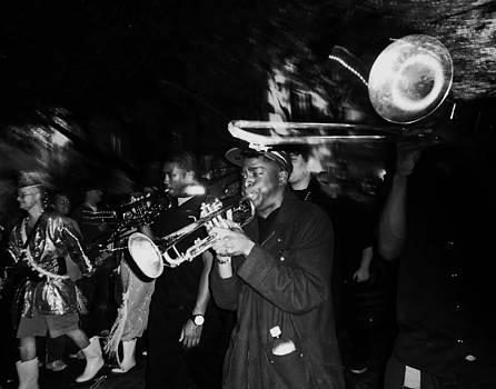 Krewe du Vieux Parade Brass Band by Louis Maistros