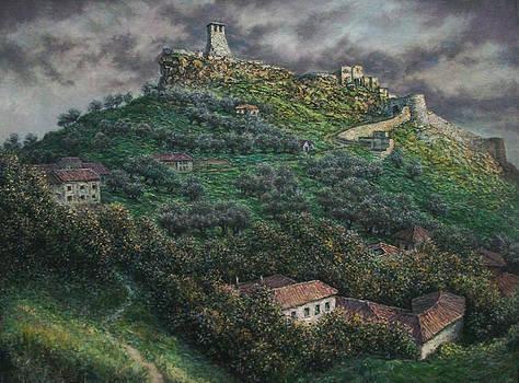 Kruja castel of Georgy Kastrioti-Skanderbeg by Lazar Taci