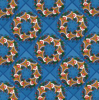 Kurbits wreaths blue by Leif Sodergren