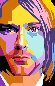Kurt cobain pop art by Ahmad Nusyirwan
