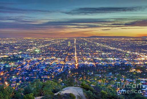 David Zanzinger - L.A. Fiery Sunset Cityscape Skyline 3