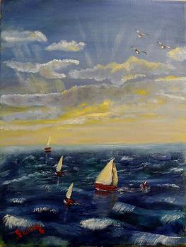 La regata by Juan Sandin