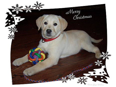 Joyce Dickens - Lab Pup Merry Christmas